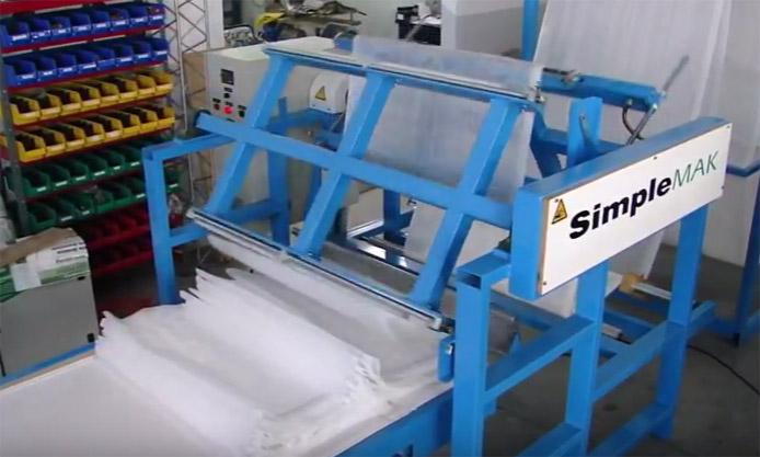 cortadora de tela plana
